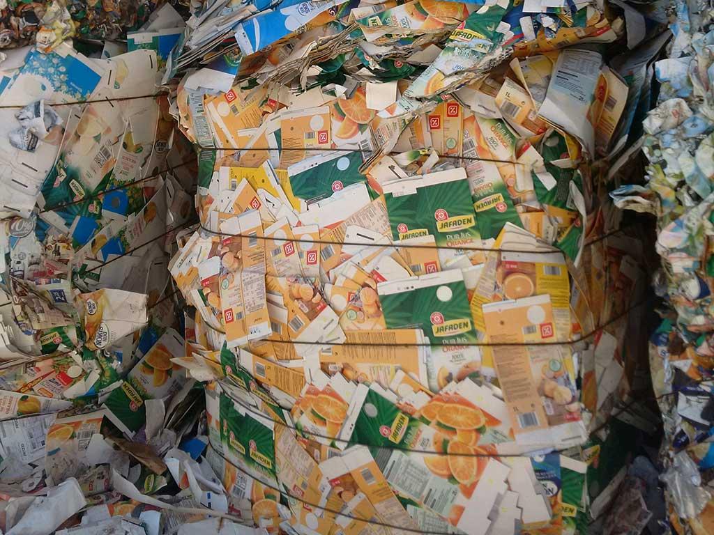 Calidades de papel y cartón reciclado